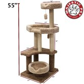 "55"" Kitty Jungle Gym Cat Tree"