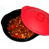 Non-Stick Silicone 1.25 Litre Steamer / Casserole Dish with Ventilated Lid