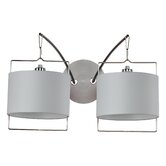 Passion  Wall Sconce in Satin Nickel/Polished Chrome