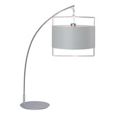 Passion Table Lamp in Satin Nickel/Polished Chrome