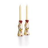 Autumn Memories Floral Porcelain Candlestick (Set of 2)