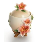 Azalea Floral Sugar Bowl with Cover