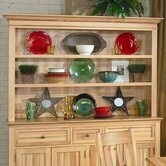 Country Hickory Open Hutch