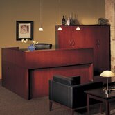 Corsica Reception Desk with Wall Cabinet