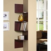 Hanging Corner Storage in Cherry