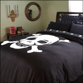 Flagship Skulls Black Duvet Cover