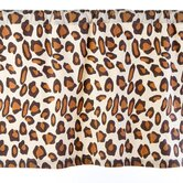 Leopard Cotton Curtain Valance