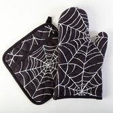 Spider Web Cotton Oven/Potholder Set