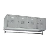 Four-Compartment Wall Hung Locker (Unassembled)