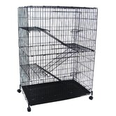 4 Levels Small Animal Cage in Black