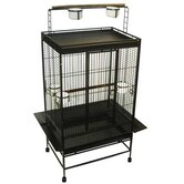 Play Top Wrought Iron Parrot Cage