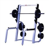 High Impact Commercial Squat Rack with Plate Storage