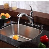 "Stainless Steel 16 Gauge Undermount  23"" Single Bowl Kitchen Sink"