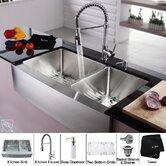 "Farmhouse 36"" Kitchen Sink with Faucet and Soap Dispenser"
