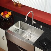 "Farmhouse 30"" Kitchen Sink with Kitchen Faucet and Soap Dispenser"