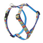 "Peace Pup 3/4"" Adjustable Medium Dog Roman Harness"