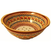 "10"" Berry Bowl / Strainer - Pattern DU70"