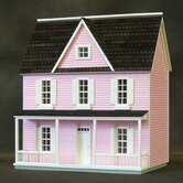 Finished 1/2 Scale Farmhouse in Pink