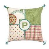 Portia Collage Polyester Decorative Pillow with Monogram