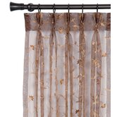 Alexia Embroidered Sheer Hazel Three-Finger Curtain Panel