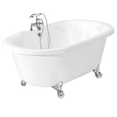 Melinda AcraStone Double Ended Champagne Massage Bath Tub Faucet Package 1 in White