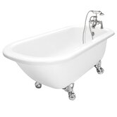 Maverick AcraStone Traditional Left Champagne Massage Bath Tub Faucet Package 1