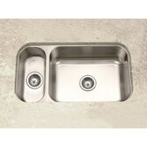 Elite Undermount Double Bowl 80/20 Kitchen Sink in Satin