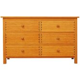Hosta 6 Drawer Bamboo Dresser