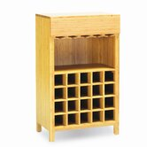 Orchid 20 Bottle Wine Bamboo Rack