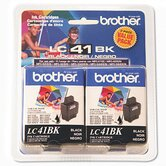 Lc41Bk2Pks Ink, 500 Page-Yield, 2/Pack
