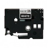 "Laminated Tape Cartridge, For TZ Models, 3/8"", White/Black"