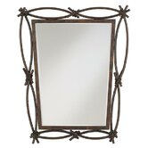 Outdoor Expressions Mirror in Madera Rust