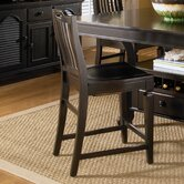 Mirren Pointe Wood Seat Slat Back Counter Stool