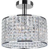 Pearl Four Light Semi Flush Mount in Chrome