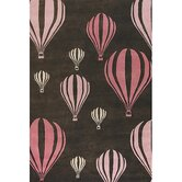 Kids Balloon Pink/Brown Kids Rug