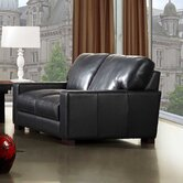 Dyson Leather Loveseat