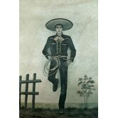 "Charro Oil Painting on Canvas Art - 36"" x 24"""