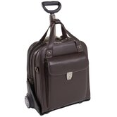 Pastenello Leather Vertical Detachable-Wheeled Laptop Case