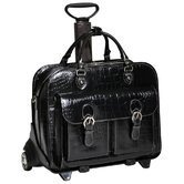 San Martino Ladies' Leather Detachable-Wheeled Laptop Case