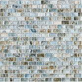 Glass Expressions Micro Blocks Accent Tile in Seaglass