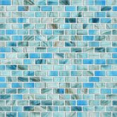 Glass Expressions Frosted Micro Blocks Accent Tile in Azure