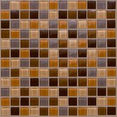 "Glass Mosaic 12"" Tile Accent in Brown"