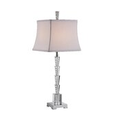Tapered Clear Crystal Accent Lamp