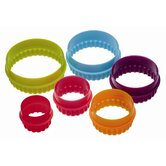 Colourworks Set of Six Pieces Round Shaped Cookie Cutters with Storage Box