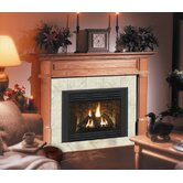 Deluxe Claremont Flush Fireplace Mantel with Large Opening