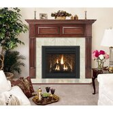 Deluxe Geneva Flush Fireplace Mantel with Large Opening
