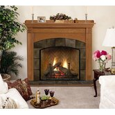 Deluxe Royalton Flush Fireplace Mantel with Large Opening