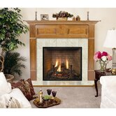 Deluxe Lewiston Flush Fireplace Mantel with Large Opening
