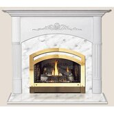 Light Finish Viceroy Flush Fireplace Mantel with Large Opening