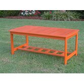 Hannon Outdoor Patio Two-Tier Wood Coffee Table